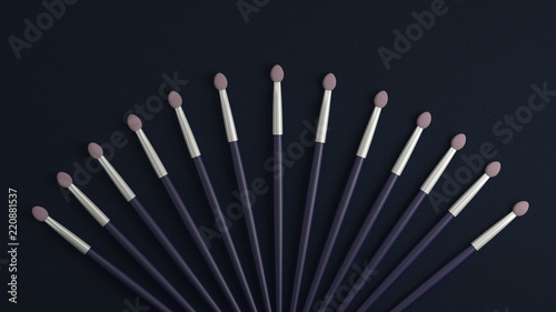 Photo The applicator for cosmetics. 3D illustrator, 3D rendering.