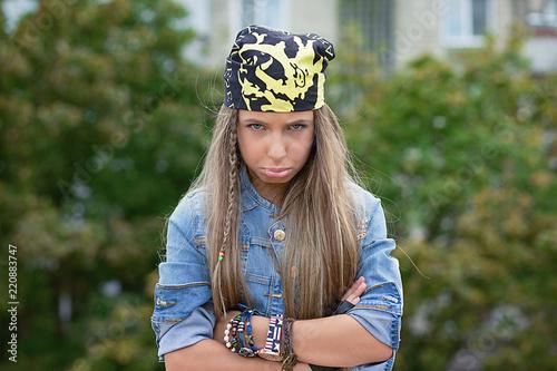 Fotografia, Obraz  Upset gloomy young woman looking at camera