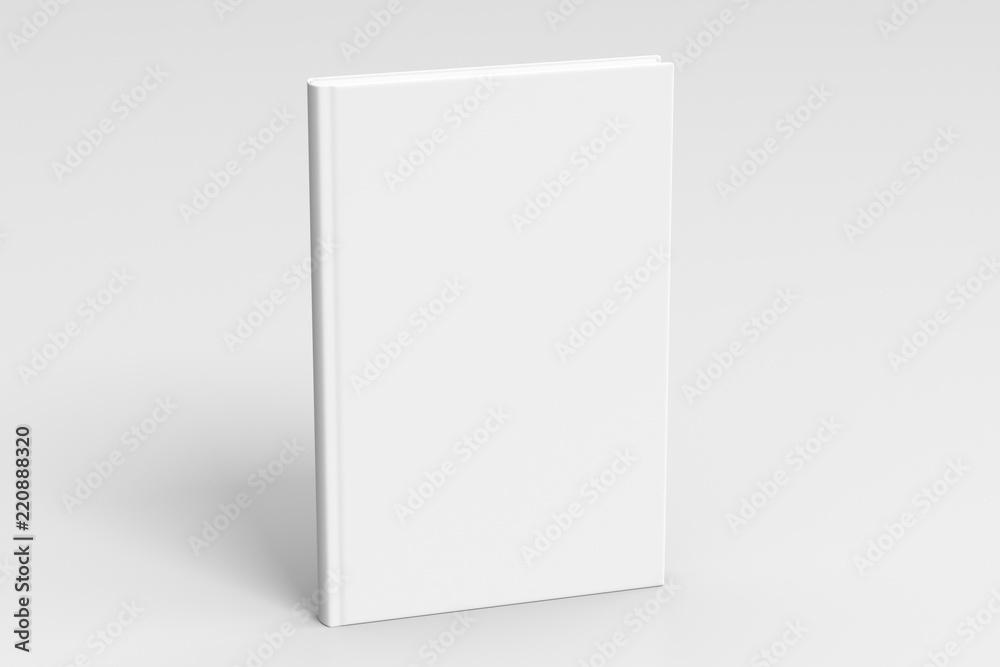 Fototapety, obrazy: Verical blank book cover mockup