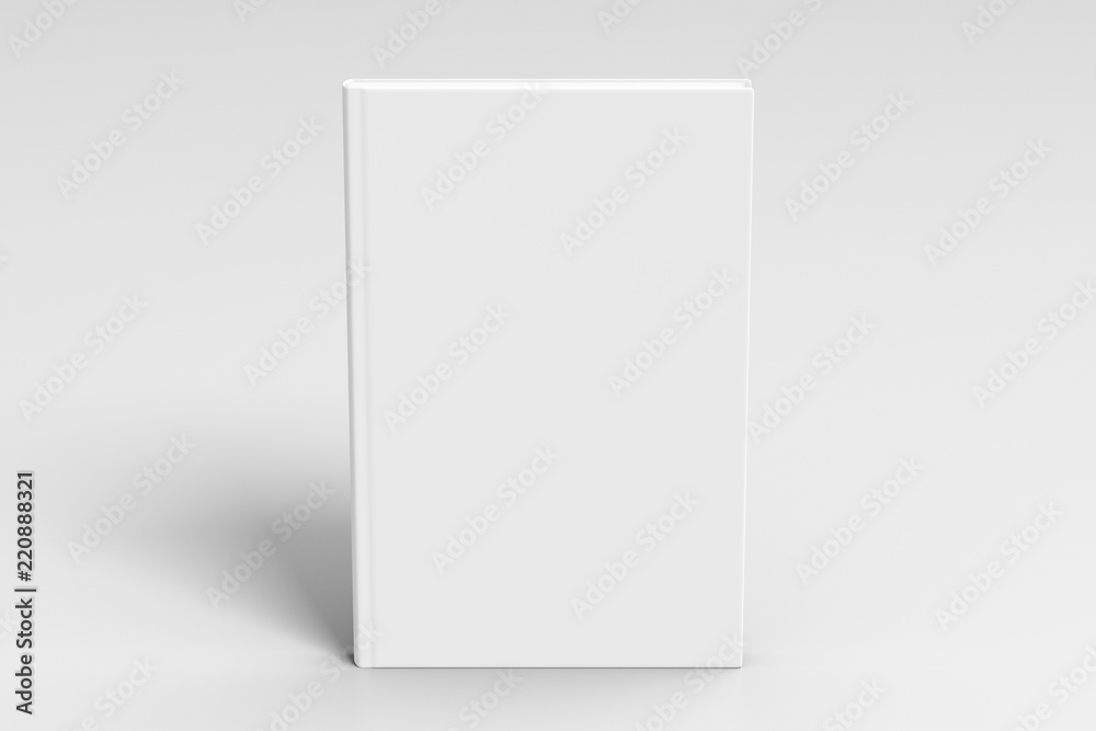 Fototapeta Verical blank book cover mockup