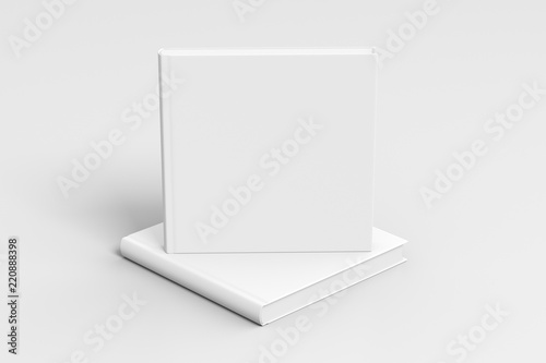 Fotografie, Obraz  square blank book cover mockup