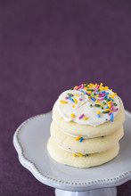 Three Frosted Sugar Cookies, W...