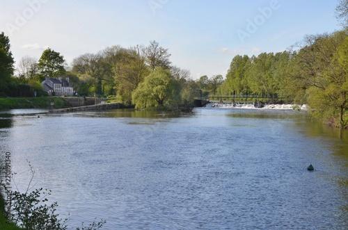 Fotografie, Obraz  Canal de Nantes à Brest, écluse de St Martin