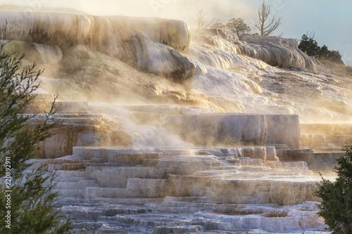 Fotografie, Obraz  mammoth hot springs  yellowstone