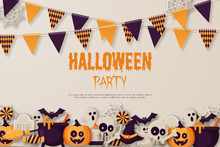 Happy Halloween Party Backgrou...
