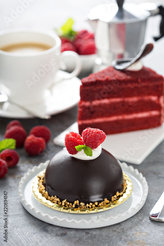 Fotografie, Obraz  Variety of delicious desserts