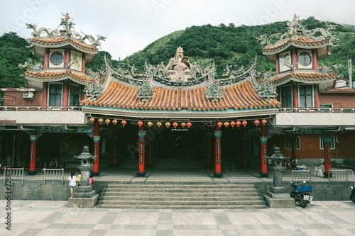 Spoed Foto op Canvas Bedehuis Taipei Taiwan Temple Monk Religion Buddha