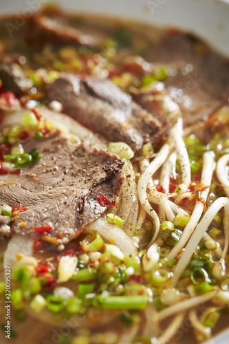 Vietnamese beef pho noodle - Buy this stock photo and explore