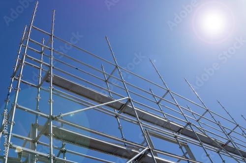 Fototapeta Steel construction scaffolding