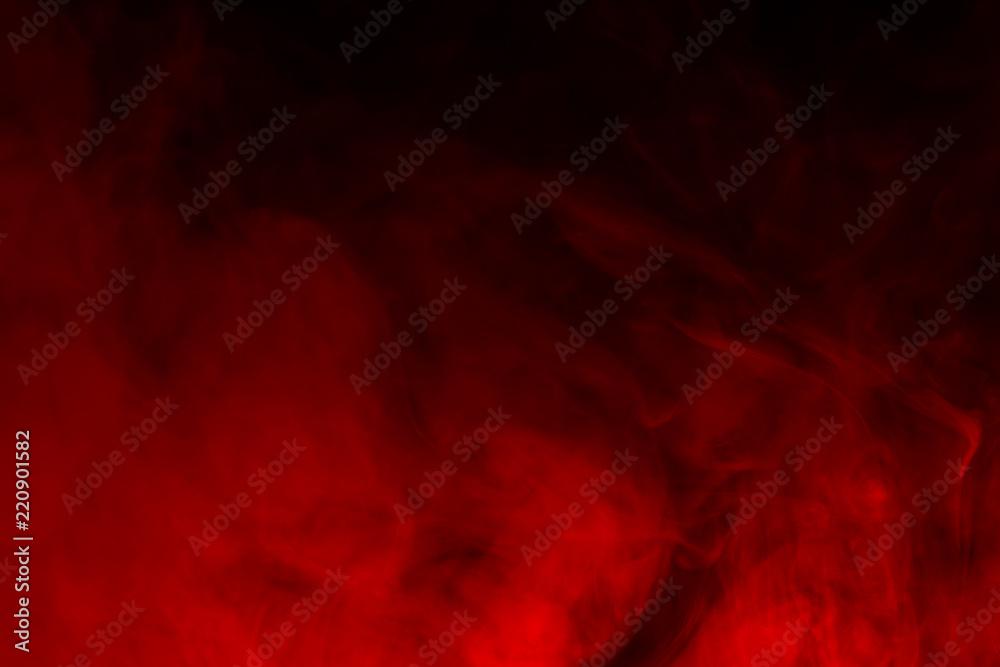 Fototapety, obrazy: Colorful smoke close-up on a black background