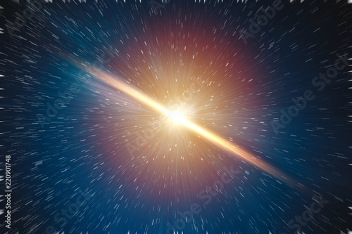 Galaxy explosion big bang of star universe illustration concept Canvas Print