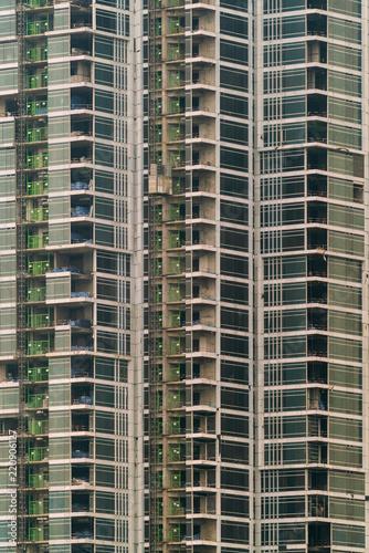 Staande foto Stad gebouw Building skyscraper, close-up