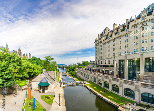 Poster Channel View at the Rideau Canal in Ottawa - Canada