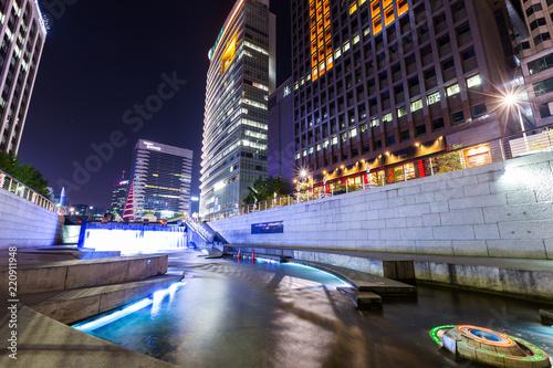 Foto  Seoul city at night