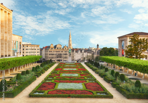 Deurstickers Centraal Europa Cityscape of Brussels in a beautiful summer day