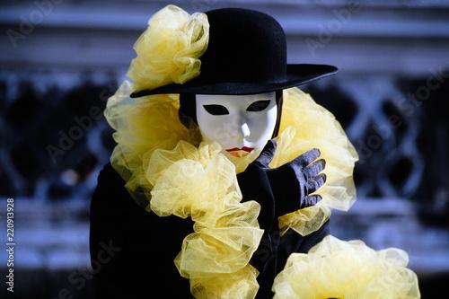 Fototapeta Maskierte, Carneval in Venedig, Venetien, Italien, Europa