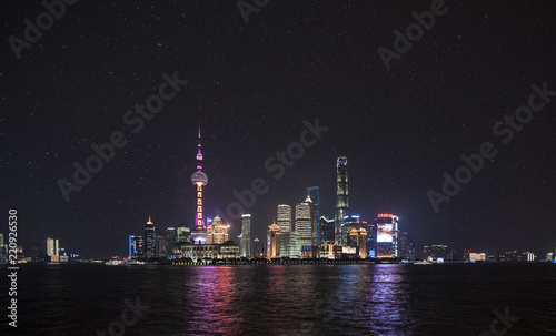 Foto op Plexiglas Shanghai Shanghai by night