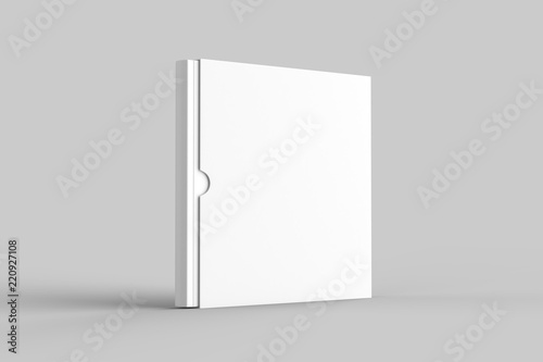 Fotografie, Obraz  Square slipcase book mock up isolated on soft gray background
