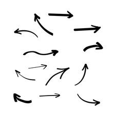 Set Of Hand Drawn Arrows. Arro...