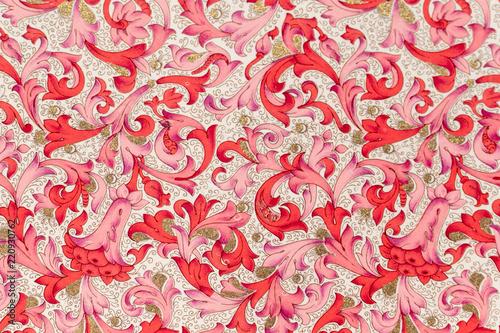 Fototapeta medieval fabric texture background paper obraz