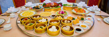 Variety Of Dim Sum Traditional Thai And Chinese Breakfast