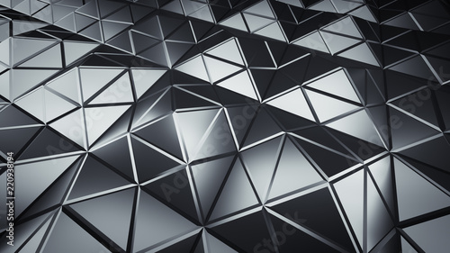 Futuristic polygonal grey s...