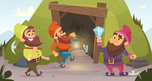 Photo Dwarves in the mine