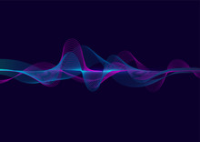 Bright Wave Vector Background ...