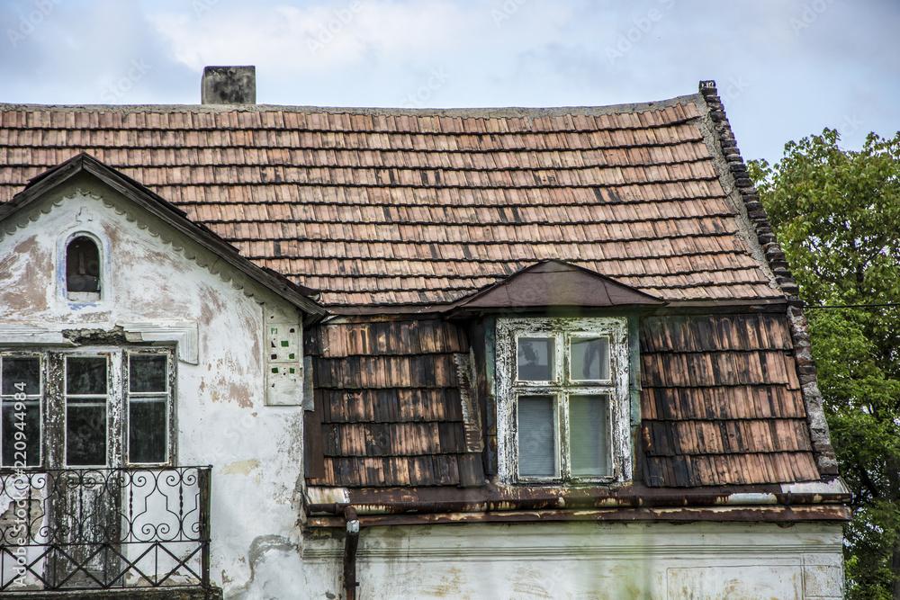 Fototapeta Stary dom dach