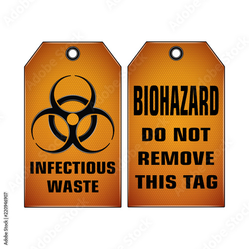 Vector And Illustration Graphic Styleinfectious Waste Do Not Remove