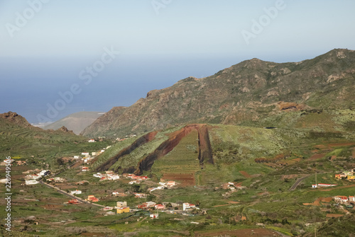 Printed kitchen splashbacks Canary Islands Mountain landscape of Tenerife. Volcanic island. Hills and valleys