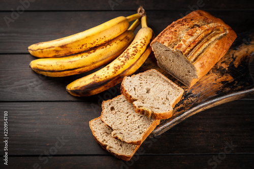 Homemade banana bread Fototapet