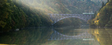 Fukushima First Bridge Tadami River Japan