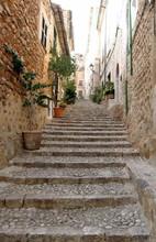 Traditional Street In Majorca, Balearic Islands, Spain
