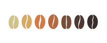Coffee Bean Set. Isolated Coffe Beans On White Background