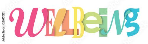 Fototapeta WELLBEING letters banner obraz