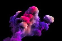 Colorful Smoke. 3d Illustration, 3d Rendering.