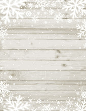 Wooden Christmas Background Wi...