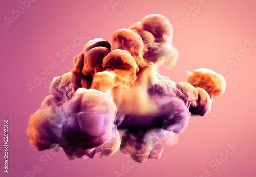 Colorful smoke. 3d illustra...