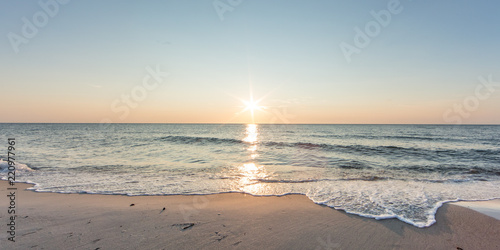 Photo Stands Sea sunset meer