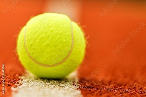Obraz na płótnie Tennis ball on cort