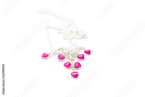 Foto  necklace, subject isolated on white background