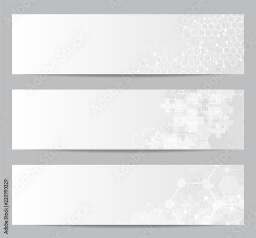 Fototapeta Set of modern scientific banners. obraz