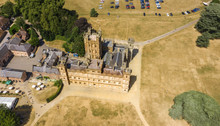 Aerial View Of The Highclere Castle  And Park  Hampshire