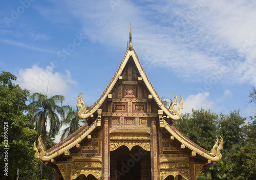 Chiangmai,Thailand - 19- Aug-2018 : Wat Phra Sing Waramahavihan, It is a temple of Chiang Mai.