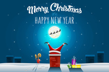 Christmas Greeting Card - Sant...