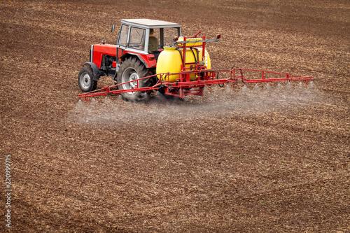 Fotomural Pestizid Landwirtschaft Versprühen Unkraut