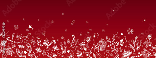 Fotografía  Christmas doodles background