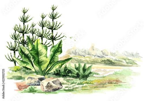 Fototapeta Prehistorical landscape