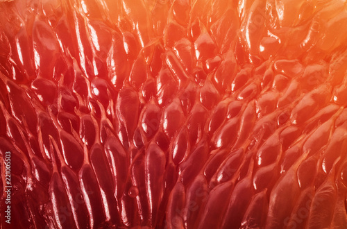 Photo sur Aluminium Macro photographie Grapefruit slice background. Abstract macro shoot.